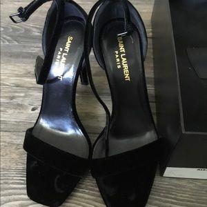 Saint Laurent velvet heels